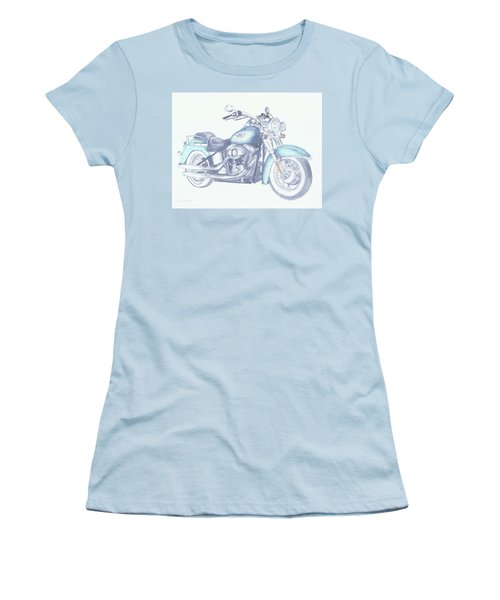 2015 Softail Women's T-Shirt (Junior Cut) by Terry Frederick