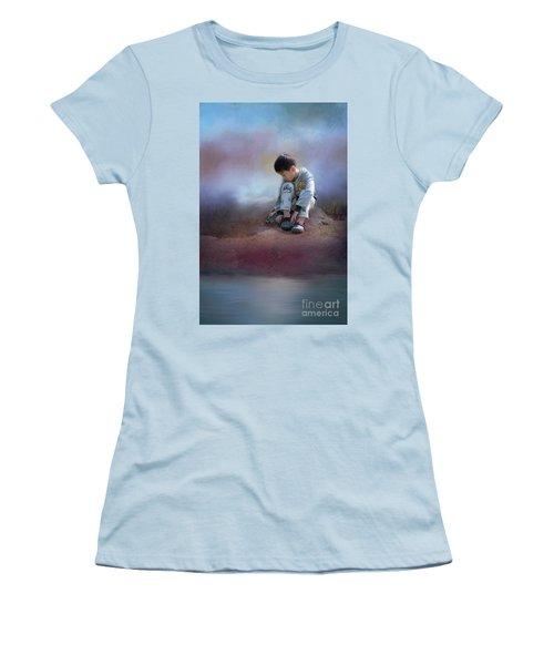 Alone Women's T-Shirt (Junior Cut) by Eva Lechner