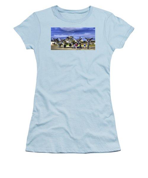 B-17 Women's T-Shirt (Athletic Fit)