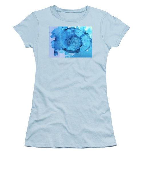 Blue Abstract Women's T-Shirt (Athletic Fit)