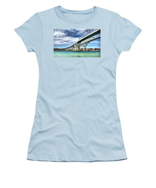 Blue Water Bridge Women's T-Shirt (Junior Cut) by Joe  Ng