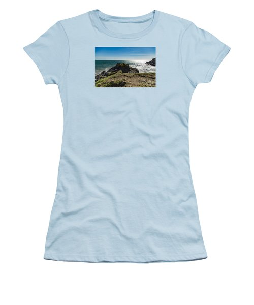 Cadgwith Cove Women's T-Shirt (Junior Cut) by Brian Roscorla