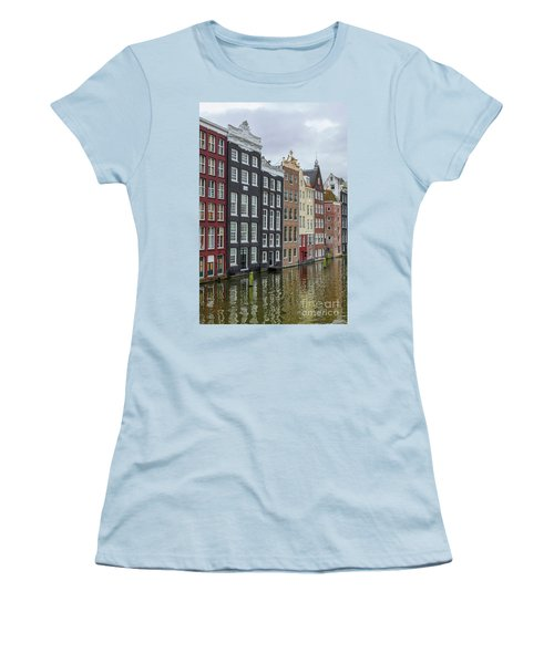 Canal Houses In Amsterdam Women's T-Shirt (Junior Cut) by Patricia Hofmeester