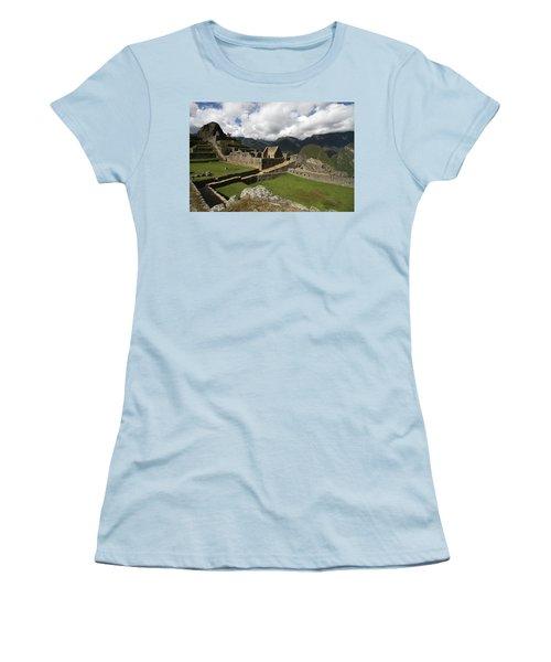 Central Plaza At Machu Picchu Women's T-Shirt (Junior Cut) by Aidan Moran