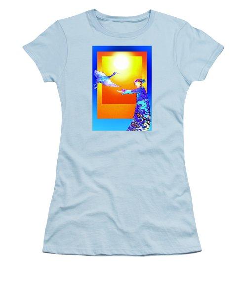 Colorful Friends Women's T-Shirt (Junior Cut) by Hartmut Jager