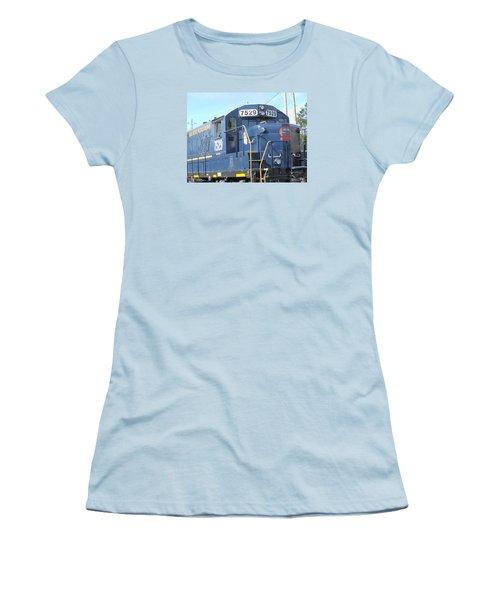 Diesel Engline Train Women's T-Shirt (Junior Cut) by Linda Geiger