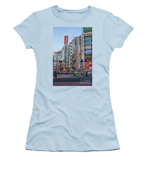 Downtown Tokyo Women's T-Shirt (Junior Cut) by Patricia Hofmeester