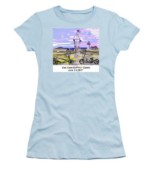 East Coast Elliptigo Classic Women's T-Shirt (Athletic Fit)