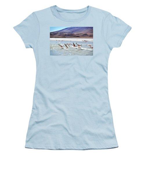 Flying Flamingos Women's T-Shirt (Junior Cut)