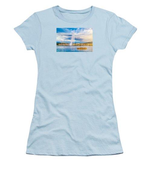Geneva Women's T-Shirt (Junior Cut) by JR Photography