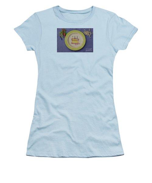 Happy Birthday Women's T-Shirt (Junior Cut) by Sandy Molinaro