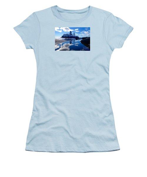 Hollow Rock Reflections Women's T-Shirt (Junior Cut) by Sandra Updyke