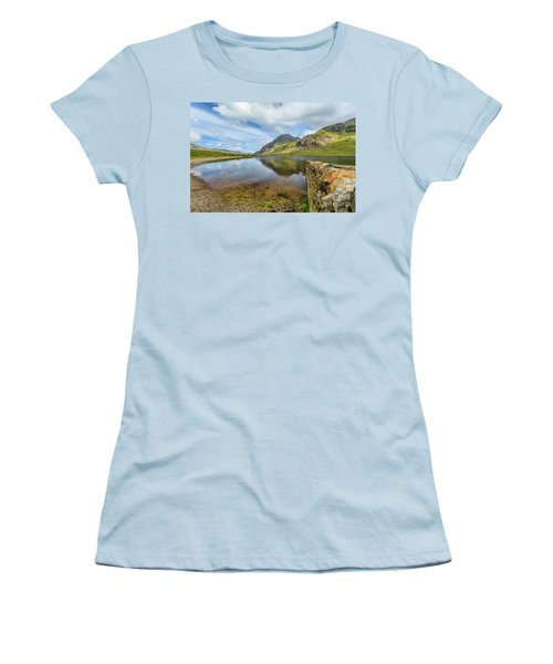 Women's T-Shirt (Junior Cut) featuring the photograph Idwal Lake Snowdonia by Adrian Evans