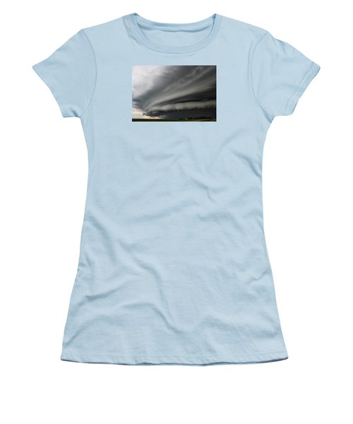 Intense Shelf Cloud Women's T-Shirt (Junior Cut) by Ryan Crouse