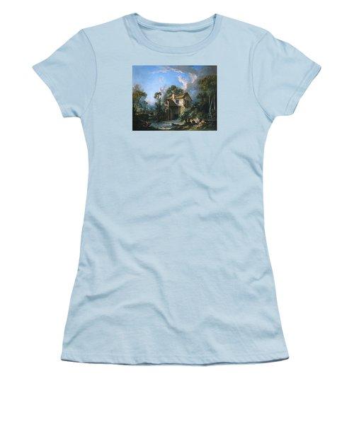 Mill At Charenton Women's T-Shirt (Junior Cut) by Francois Boucher