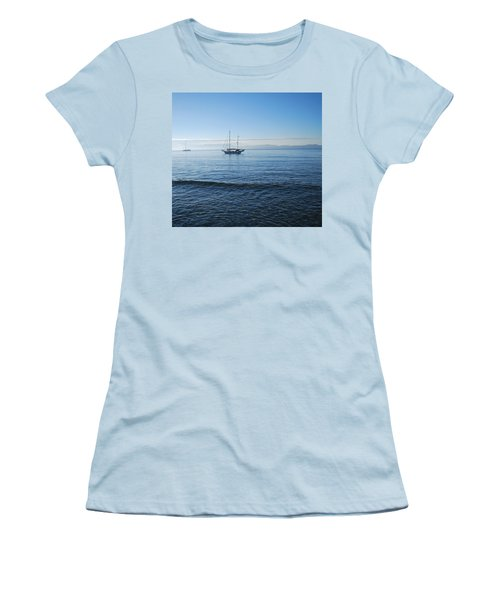 Morning Clouds Women's T-Shirt (Junior Cut) by George Katechis