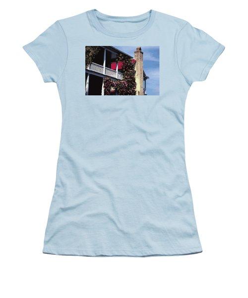 Porch In Bloom Women's T-Shirt (Junior Cut) by Glenn Gemmell