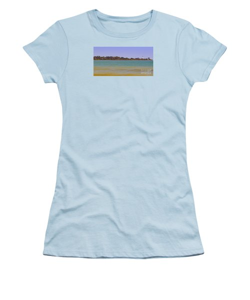 Women's T-Shirt (Junior Cut) featuring the photograph Racine Lakefront by Ricky L Jones
