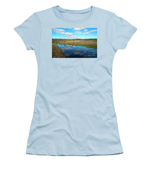 Women's T-Shirt (Junior Cut) featuring the photograph Reflections Of Spring by Mike Dawson