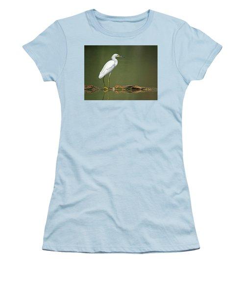 Snowy Egret Women's T-Shirt (Junior Cut) by Tam Ryan