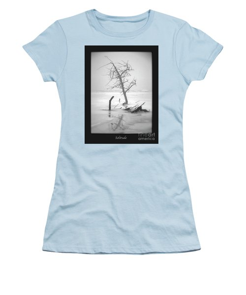 Solitude Women's T-Shirt (Junior Cut) by Sue Stefanowicz