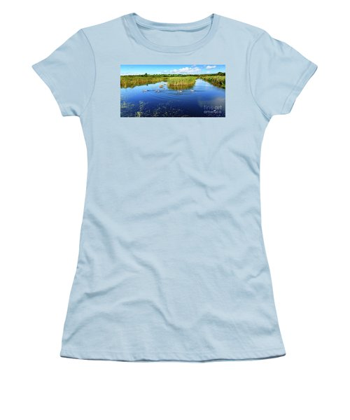Somerset Levels Women's T-Shirt (Junior Cut) by Colin Rayner