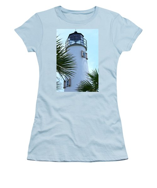 St. George Island Lighthouse Women's T-Shirt (Athletic Fit)
