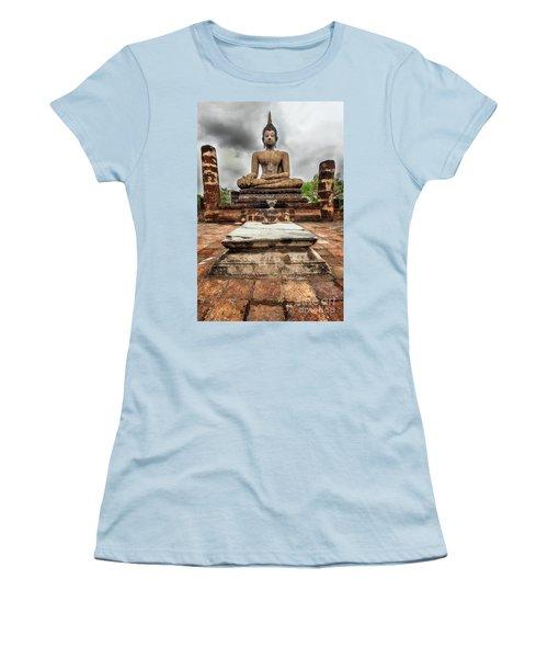 Women's T-Shirt (Junior Cut) featuring the photograph Sukhothai Historical Park by Adrian Evans