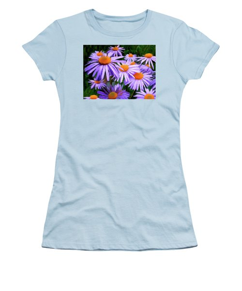 Women's T-Shirt (Junior Cut) featuring the painting Summer Dreaming by David Dehner