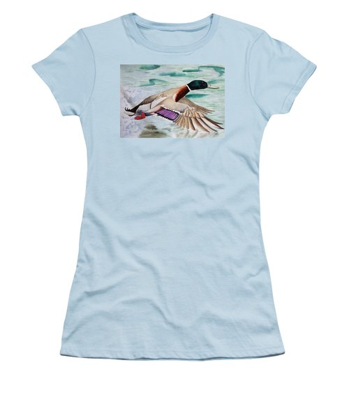 Takin Off Women's T-Shirt (Junior Cut) by Jimmy Smith