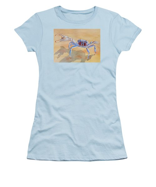 Women's T-Shirt (Junior Cut) featuring the painting Talk To The Claw by Judy Mercer