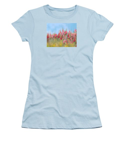 The Earth Laughs In Flowers Women's T-Shirt (Athletic Fit)