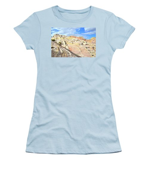 Top Of The World At Valley Of Fire Women's T-Shirt (Junior Cut) by Ray Mathis