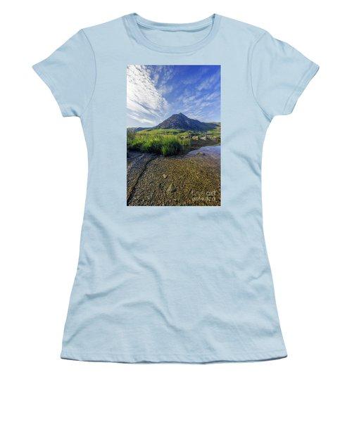 Tryfan Mountain Women's T-Shirt (Junior Cut) by Ian Mitchell