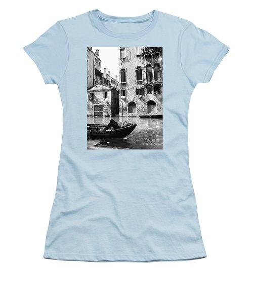 Women's T-Shirt (Junior Cut) featuring the photograph Venice Canal, 1969 by Granger