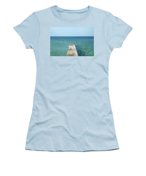 Women's T-Shirt (Junior Cut) featuring the photograph Wooden Bath Pier by Kennerth and Birgitta Kullman
