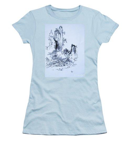 Yama No Fukei Women's T-Shirt (Athletic Fit)