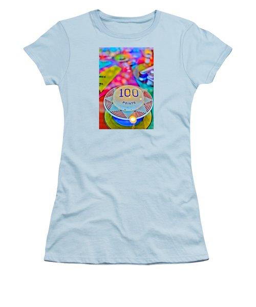 100 Points - Pinball Women's T-Shirt (Junior Cut) by Colleen Kammerer