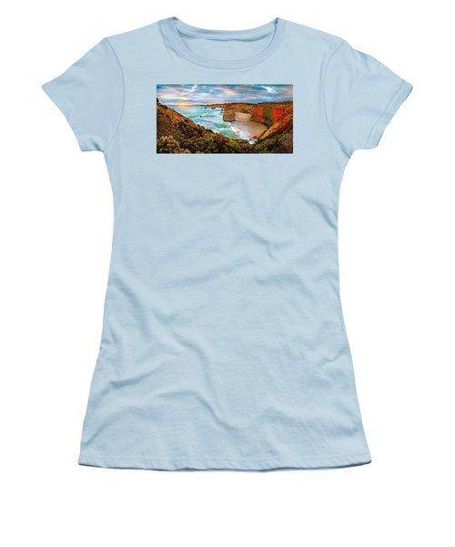 12 Apostle Sunset Women's T-Shirt (Junior Cut) by Az Jackson