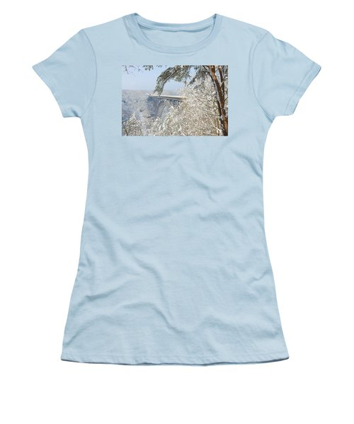 New River Gorge Bridge Women's T-Shirt (Athletic Fit)