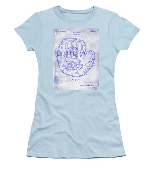 1925 Baseball Glove Patent Blueprint Women's T-Shirt (Athletic Fit)