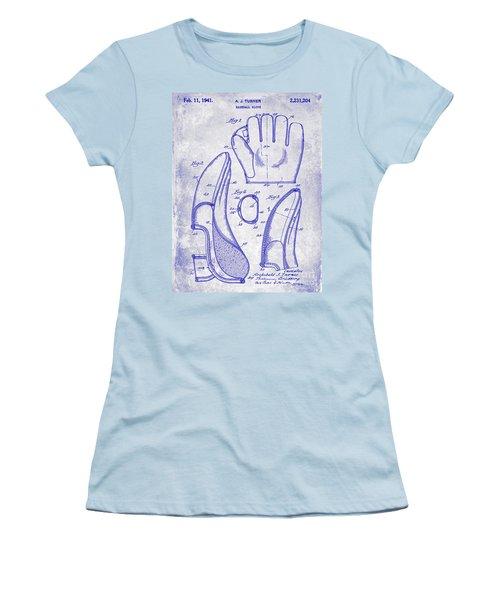 1941 Baseball Glove Patent Blueprint Women's T-Shirt (Athletic Fit)