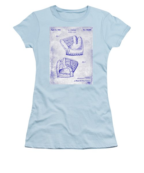 1945 Baseball Glove Patent Blueprint Women's T-Shirt (Athletic Fit)