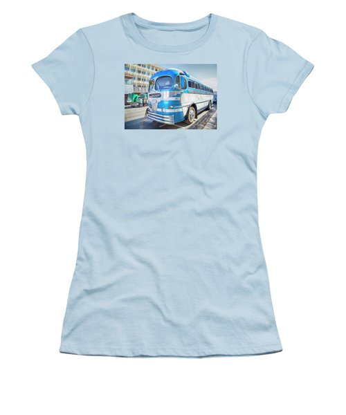 Women's T-Shirt (Junior Cut) featuring the photograph 1946 Greyhound by Theresa Tahara