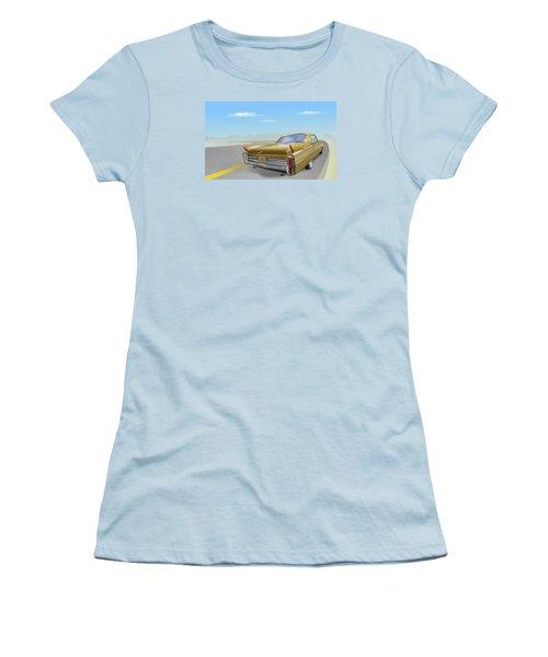 1963 Cadillac De Ville Women's T-Shirt (Junior Cut) by Marty Garland