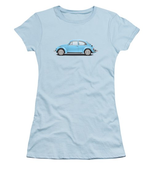 1972 Volkswagen Super Beetle - Marina Blue Women's T-Shirt (Athletic Fit)