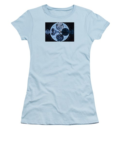 Women's T-Shirt (Junior Cut) featuring the digital art Abstract Painting - Polo Blue by Vitaliy Gladkiy