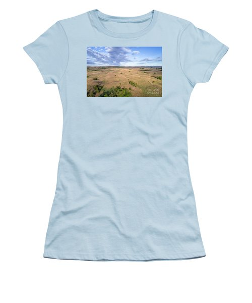 aerial view of Nebraska Sandhills  Women's T-Shirt (Athletic Fit)