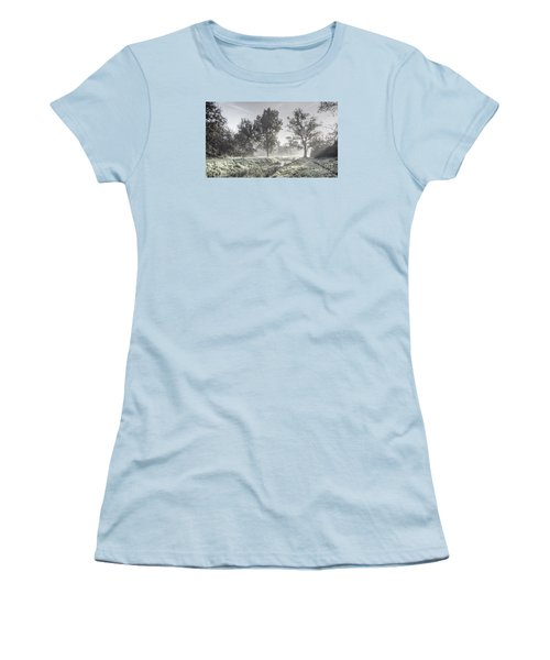 Colorful Autumn Landscape Women's T-Shirt (Junior Cut) by Odon Czintos