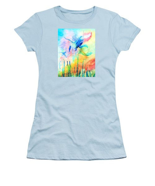 Floral Abstract Women's T-Shirt (Athletic Fit)
